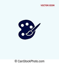 paleta, vector, arte, icono