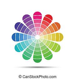 paleta, vector, color, aislado, ilustración, plano de fondo,...