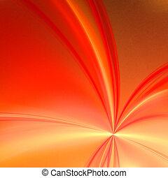 palette., abstrakt, -, gul, bakgrund., apelsin