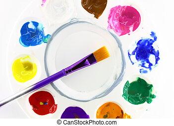 palette, artiste