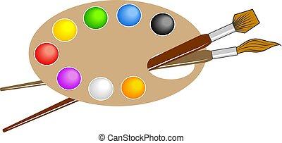 palette, artistes