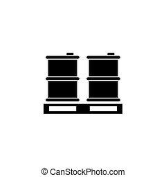 Palette Barrels Oil Flat Vector Icon