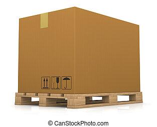 palette, boîte, carton