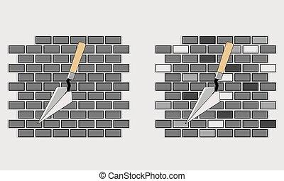 palette, briques, construction