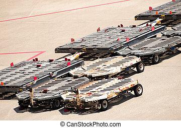 palette, cargaison, transporters