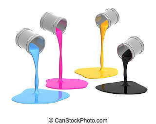 Palette CMYK - Conceptual image - a palette CMYK. Objects ...
