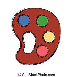 palette color artistic supply drawn