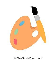 palette color brush art