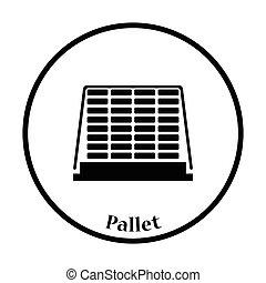 palette, construction, icône