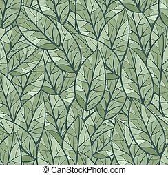 palette, couleur, modèle, résumé, seamless, leaves., arrière-plan vert, texture.