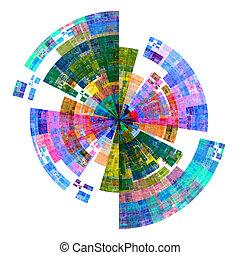 palette, disque, coloré
