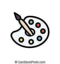 palette  flat color icon