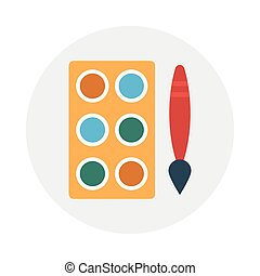 palette flat icon