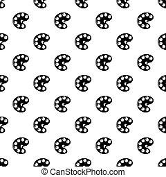 Palette icon, simple black style