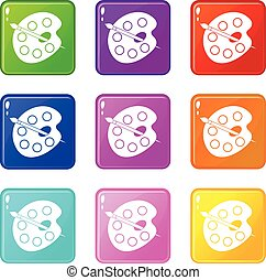 Palette icons 9 set