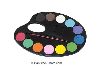 Palette of Water Colour Paints