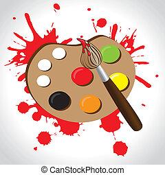 palette, peinture