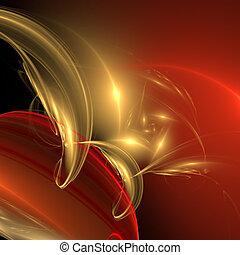palette., résumé, -, élégance, arrière-plan., jaune, rouges