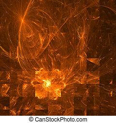 palette., résumé, -, jaune, arrière-plan., orange