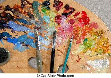 palette, witz, artist's