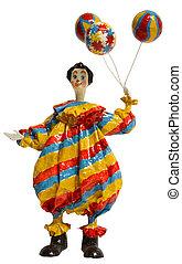 palhaço circo, com, balloon