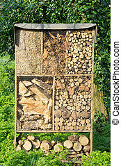Palha, madeira, armazenamento