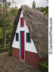 Palheiros traditional Madeira house