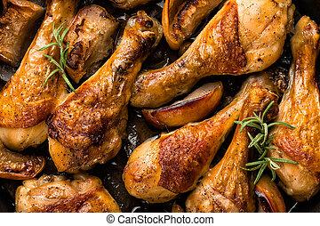 palillos, pollo