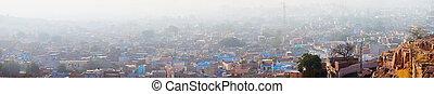 Pall of Smog Blankets the City of Jodhpur, India - Heavy...