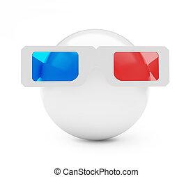 palla, 3d occhiali