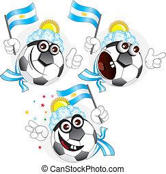 palla, argentino, cartone animato