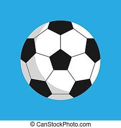 palla calcio, club, football, object., segno, apparecchiatura, gioco, vettore, sport, attività agio, elemento, esagono, silhouette., rotondo, icona