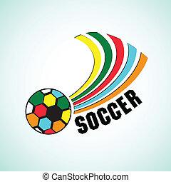 palla, calcio, colorito
