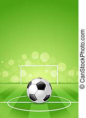 palla, calcio, sfondo verde