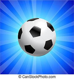 Blu Calcio Fondo Palla Palla Blu Luci Astratto Fondo Sparks