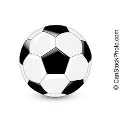 palla, calcio, vettore, illustrazione