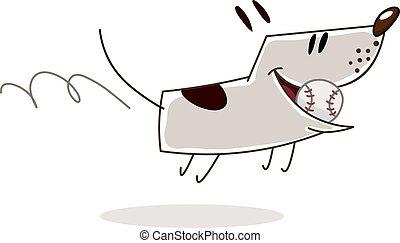 palla, cane