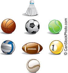 palla, collezione, sport