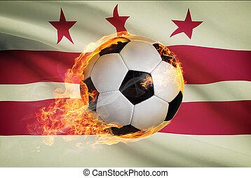 palla, columbia, distretto, serie, -, bandiera, fondo,...