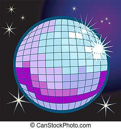 palla discoteca, illustrazione