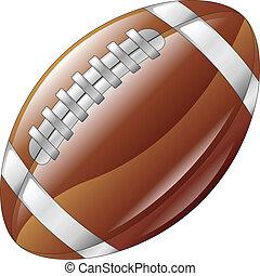 palla, football, americano, lucido, baluginante, icona