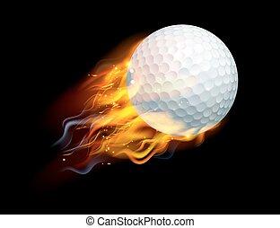 palla golf, fuoco