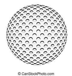 palla, golf, isolato