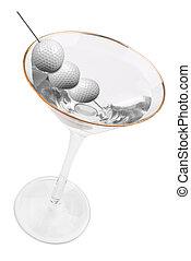 palla, golf, martini