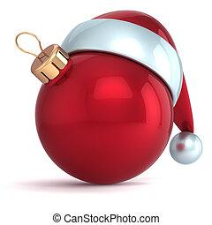 palla natale, anno nuovo, fronzolo, rosso