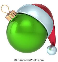 palla natale, anno nuovo, verde