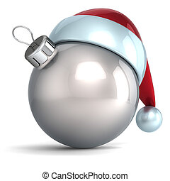 palla natale, argento, cromo, bianco