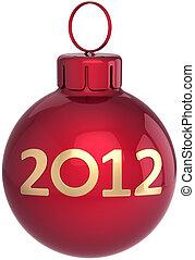 palla natale, fronzolo, 2012, anno nuovo