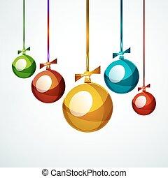 palla natale, fronzolo, anno nuovo, concetto