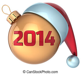 palla natale, nuovo, 2014, anno, fronzolo